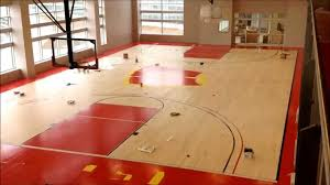 building the basketball court at the