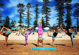 beach yoga s picture of the