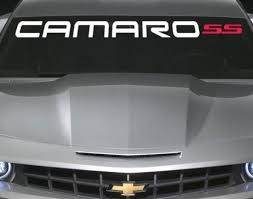 Vinyl Windshield Banner Decal Stickers Fits Chevy Camaro Ss Sticker Flare Llc