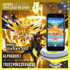 Pokemon GO Zapdos Shiny (GUARANTEED CAPTURE)[100% LEGIT NO SPOOF] - Trust  Poke Services
