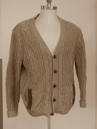 woolrich men s sweater w leather elbow