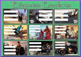 Gta Stickers Etiquetas Escolares Invitaciones 80 00 En