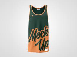 free tank top long t shirt mockup psd