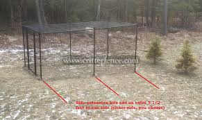 Fence Kit With Top 5 Side Extension All Metal