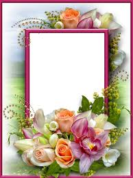 free flower photo frame for photo