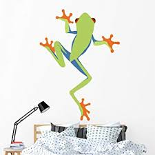 Amazon Com Wallmonkeys Red Eyed Tree Frog Cartoon Wall Decal Peel And Stick Graphic 60 In H X 43 In W Wm336498 Furniture Decor