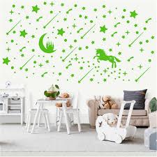 3d Luminous Castle Unicorn Fluorescent Wall Sticker For Kids Room Decor Baby Bedroom Ceiling Glow In The Dark Stars Wall Sticker Wall Stickers Aliexpress