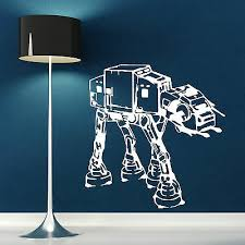 Home Garden Decor Decals Stickers Vinyl Art S76 Imperial Walker Wall Decal At Act Star Wars Bedroom Wall Sticker Rogue One