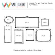 Classic Wall Sticker Frame Vinyl Wall Decal Graphic For Bedroom Decor Wallternatives