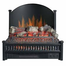 electric lighted fireplace insert