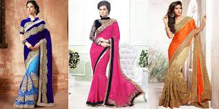 stani and indian party wear sarees