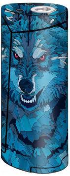 Amazon Com Skin Decal Vinyl Wrap For Smok Priv V8 60w Vape Stickers Skins Cover Blue Wolf