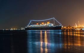 wallpaper night lights s ships