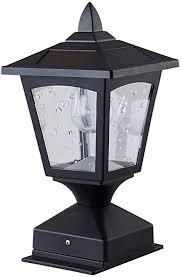 Solar Post Lights Outdoor Pillar Lamp Retro Lamps Solar Lamp Post Cap Lights Waterproof 4x4 Wood Fence Posts Pathway Patio Deck Garden Pack 1 Amazon Com