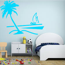 Coconut Tree Wall Sticker Hawaii Tropical Palmeiras Tree For Living Room Tall Palm Tree Furniture Stickers Adesivo Parede Wish
