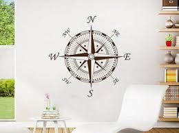 Nautical Compass Wall Decal Navigate Ship Vinyl Sticker Decals Compass Rose Nv91 Ebay