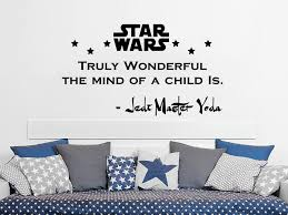 Babys Nursery Star Wars Wall Decal Childrens Playroom Personalized Jedi Master Vinyl Decor Sticker For Boys Bedroom Or Gameroom Home Decor Home Kitchen