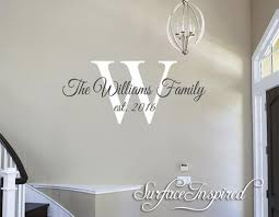 Family Name Wall Decal Personalized Family Wall Decal Name Monogram Surface Inspired Home Decor Wall Decals Wall Art Wooden Letters
