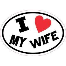 5inx3 5in Oval I Love My Wife Sticker Vinyl Car Decal Cup Tumbler Stickers Walmart Com Walmart Com