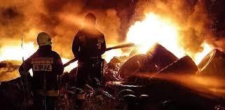 Nocny pożar składowiska opon w Pionkach. Możliwe podpalenie ...