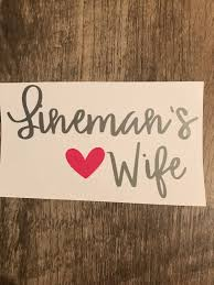 Excited To Share The Latest Addition To My Etsy Shop Lineman S Wife Decal Line Wife Sticker Ca Silhouette Cameo Crafts Lineman Wife Yeti Cup Personalized