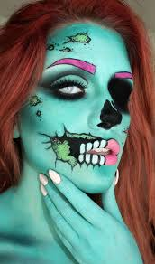 pop art zombie makeup pop art zombie