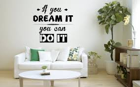 If You Dream It You Can Do It Wall Decal Motivation Quote Etsy