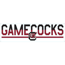 South Carolina Gamecocks 3 X 10 Duo Tone Car Decal