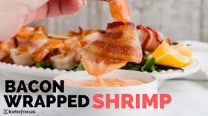 Bacon Wrapped Shrimp with Keto Sriracha ...