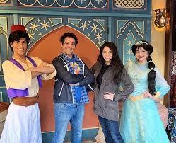Aladdin and Jasmine with Aladdin Broadway Stars Adam Jacobs (original  Aladdin) and Arielle Jacobs (current Jasmine) | Adam jacobs, Aladdin and  jasmine, Aladdin