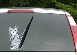 3d Cat Car Decal Sticker For The Rear Window Wiper Cute Little Kawaii