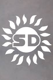San Diego Sd Sun Decal San Diego Sticker