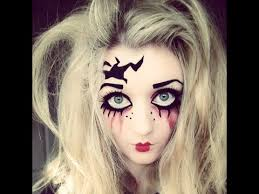 makeup tutorial creepy doll