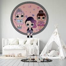 Lol Suprise Dolls Crystal Queen Fancy Rocker Vinyl Adhesive Wall Art Decal 17 X 20 Kids Girls Bedroom Removable Lil Outrageous Littles Toys Decoration Sticker Removable Home Decor Design