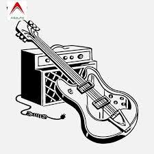 Aliauto Creative Car Sticker High Quality Electric Guitar Music Musical Instrument Rock Vinyl Accessories Pvc Decal 16cm 15cm Car Stickers Aliexpress