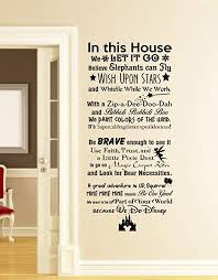 com best design amazing in this house we do disney wall