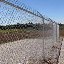 China 6 Ft 7 Ft 8 Ft Galvanized Chain Link Fence With 3 Strand Barb Wire China 6ft Chain Link Fence 7ft Chain Link Fence