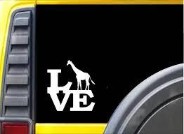 Giraffe Love Car Window Ipad Tableet Pc Notebook Cumputer Decal Sticke Mymonkeysticker Com