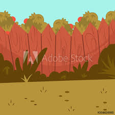 Home Backyard With Wooden Fence Green Grass And Apple Tree Vector Cartoon Illustration Buy This Stock Vector And Explore Similar Vectors At Adobe Stock Adobe Stock
