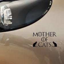 Yjzt 13 9cm 8 5cm Mother Of Cats Car Sticker Cat Lovers Cat Mums Kitten Vinyl Decal Black Silver C10 02442 Car Stickers Aliexpress