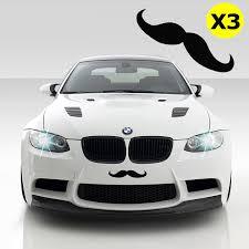Xotic Tech 3pcs 7 Euro Funny Italian Mustache Car Window Die Cut Graphic Vinyl Decals Black Walmart Com Walmart Com