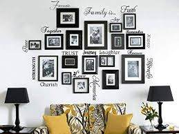 Amazon Com Picture Collage Words Family Room Art Decoration Picture Frame Set Of 20 Words Quote Vinyl Art Sticker Family Quote Words Vinyl Wall Decal Sticker Home Kitchen