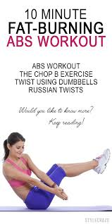 10 minute fat burning abs workout