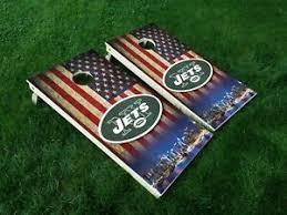 New York Jets Sticker Decal Vinyl Set Of 2 Cornhole Truck Car
