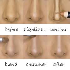 your nose to make it look smaller