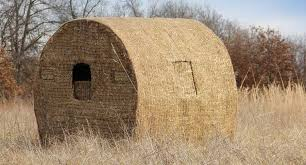 building a diy bale blind can be as