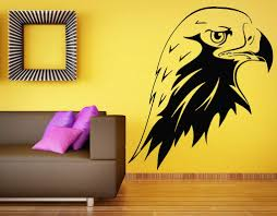 Amazon Com Eagle Wall Decal Bird Of Prey Bald Eagle Head Hawk Decals Wall Vinyl Sticker Art Wall Decor Bedroom Mural 29s Kitchen Dining