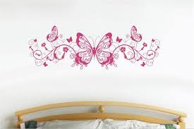 Butterfly Flower Wall Decal Music Home Decor Stickers