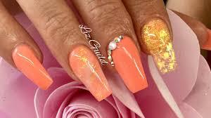 acrylic nails summer nail design