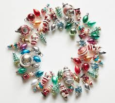 mixed vintage mercury glass ornaments